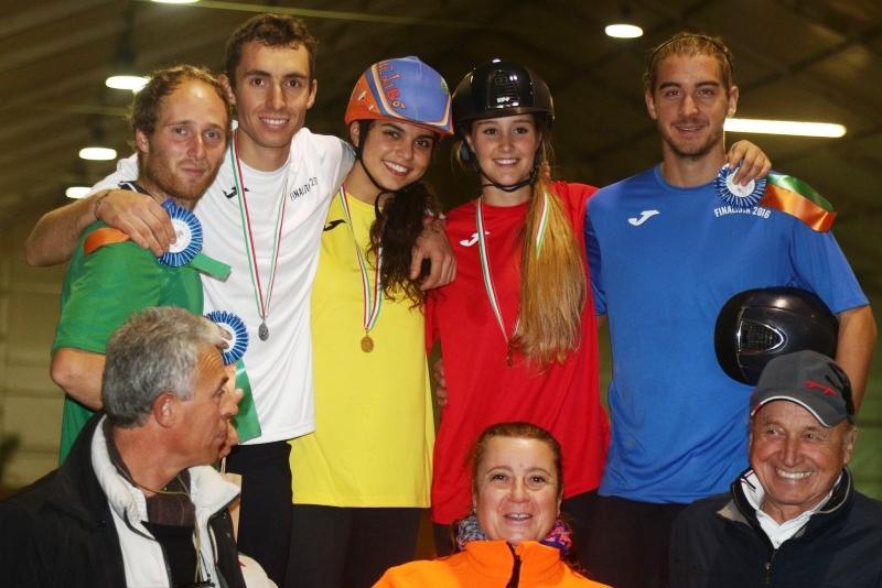 podio campionati italiani individuali